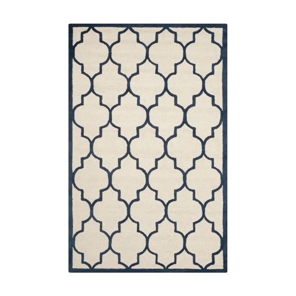 Wełniany dywan Everly Navy, 121x182 cm