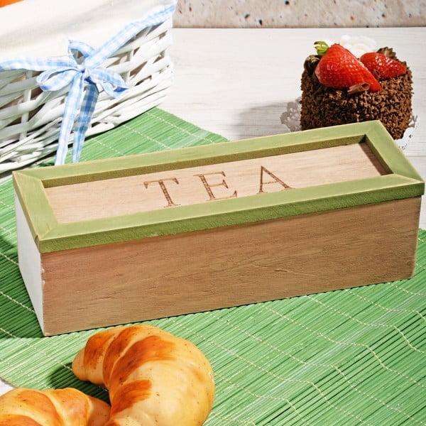 Pudełko na herbatę ze 3 przegródkami Herbal
