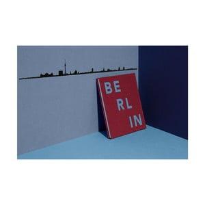 Czarna dekoracja ścienna z zarysem miasta The Line Berlin XL