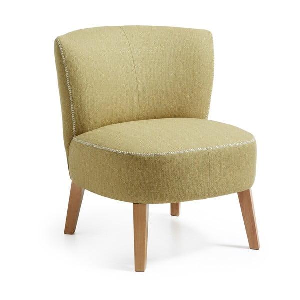 Fotel Jim, zielono-żółty