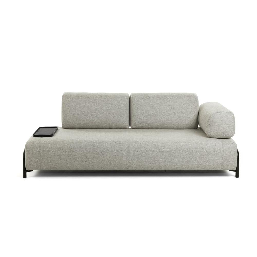 Szarobeżowa sofa z małym schowkiem La Forma Compo