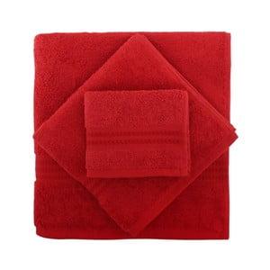 Zestaw 3 czerwonych ręczników Rainbow