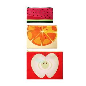Zestaw 3 uniwersalnych kieszonekek Frutti