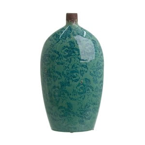 Szmaragdowy wazon ceramiczny InArt Antique, wys. 44 cm