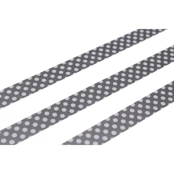 Taśma dekoracyjna washi Dot Black x Grey