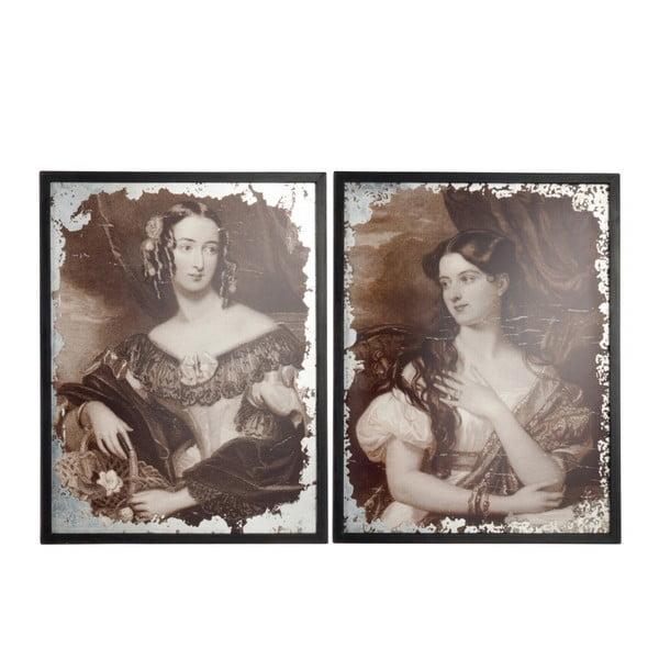 Zestaw 2 obrazów Antique