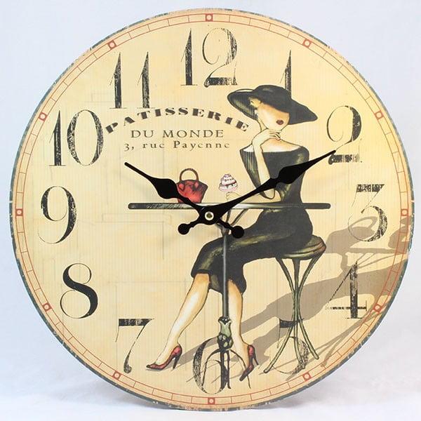 Drewniany zegar Patisserie Lady