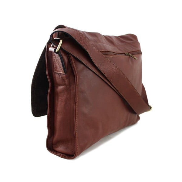 Skórzana torebka unisex Salesia Marrone
