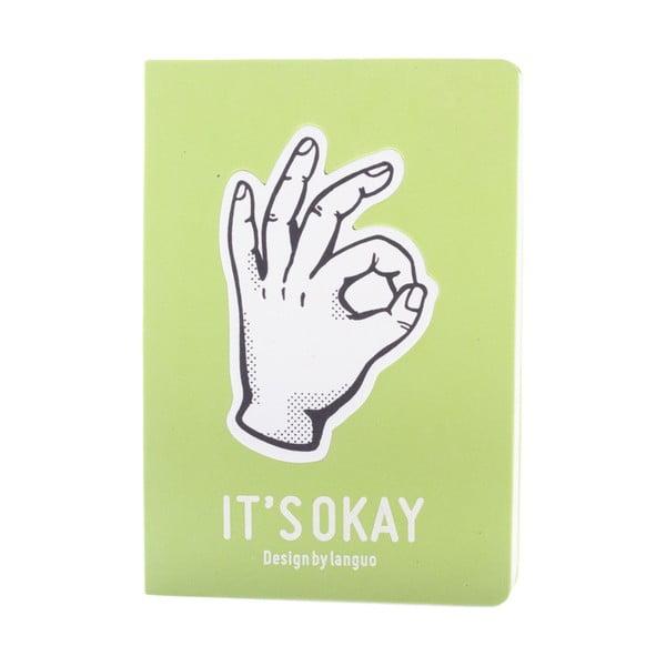 Notes Fingers, zielony