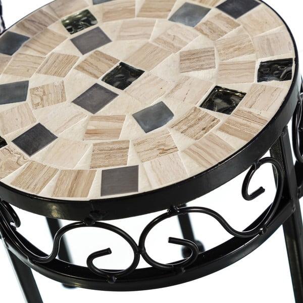 Zestaw 2 okrągłych stolików z ceramicznym blatem Sea