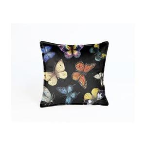 Dwustronna poduszka aksamitna Surdic Butterfly Nights, 45x45 cm
