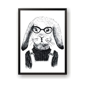 Plakat Nord & Co Hipster Rabbit, 21x29 cm