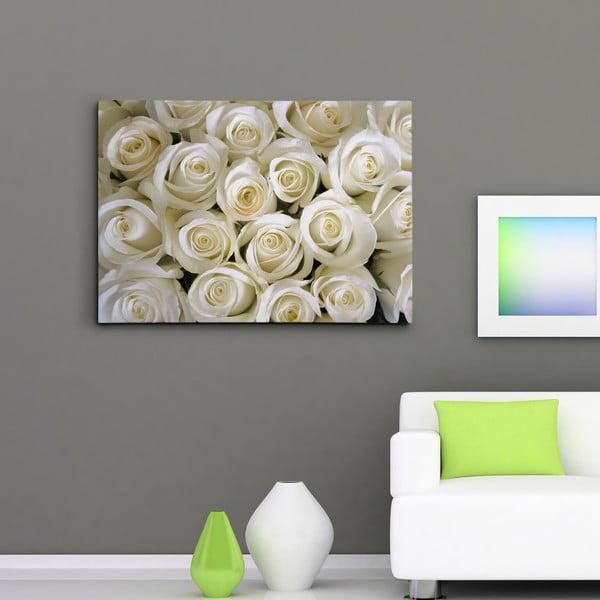 "Obraz na płótnie ""Białe róże"", 50x70 cm"