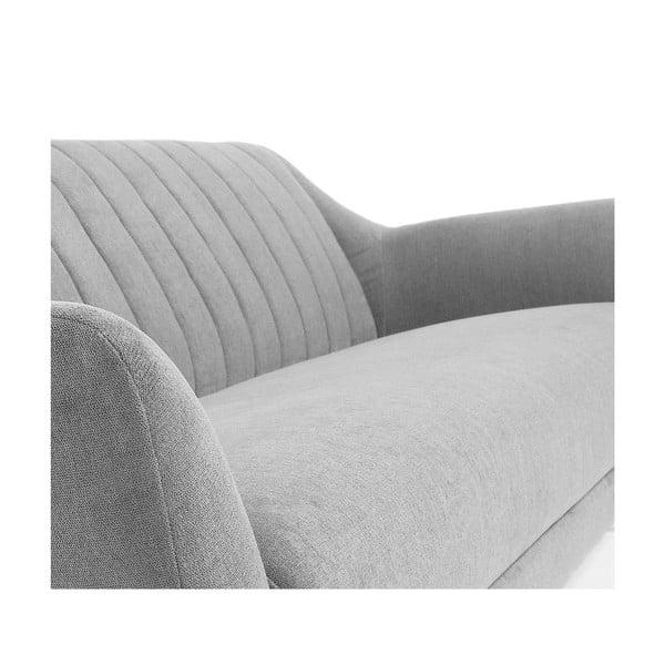 Jasnoszara sofa 3-osobowa La Forma Off