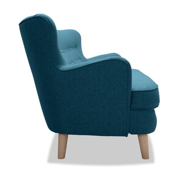 Turkusowa sofa 3-osobowa Vivonita Eden
