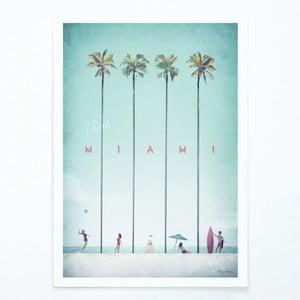 Plakat Travelposter Miami, A3