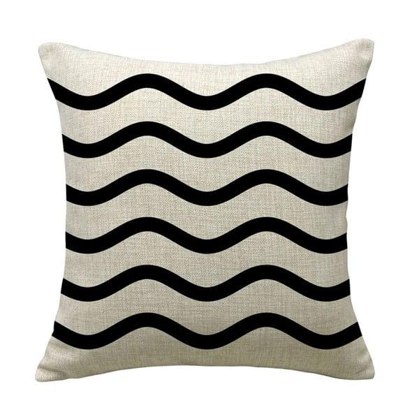 Poszewka na poduszkę Wave Black, 45x45 cm