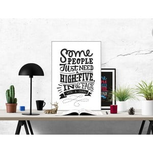 Plakat High Five With a Chair BW, A3