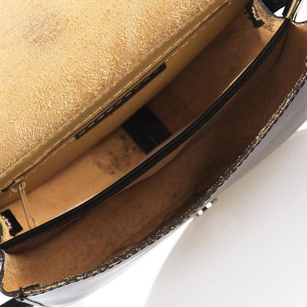 Czarna torebka skórzana Giorgio Costa Calf
