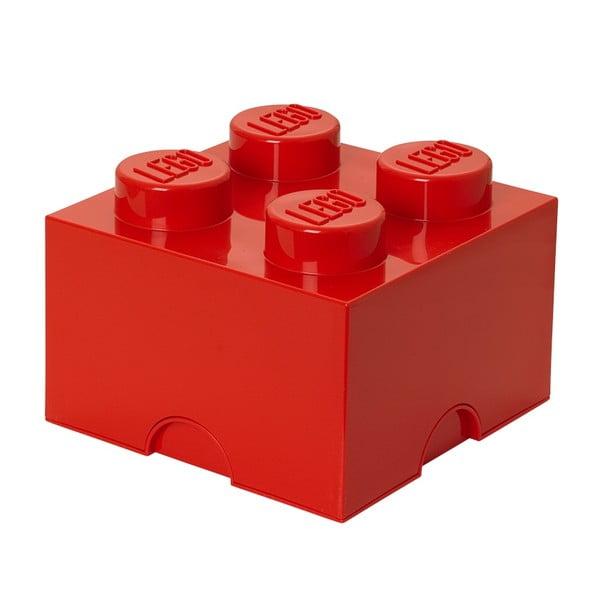 Pudełko kostka, czerwone