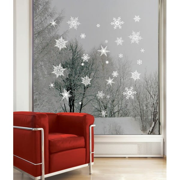 Naklejka   Fanastick Christmas White Flakes, 30 szt.