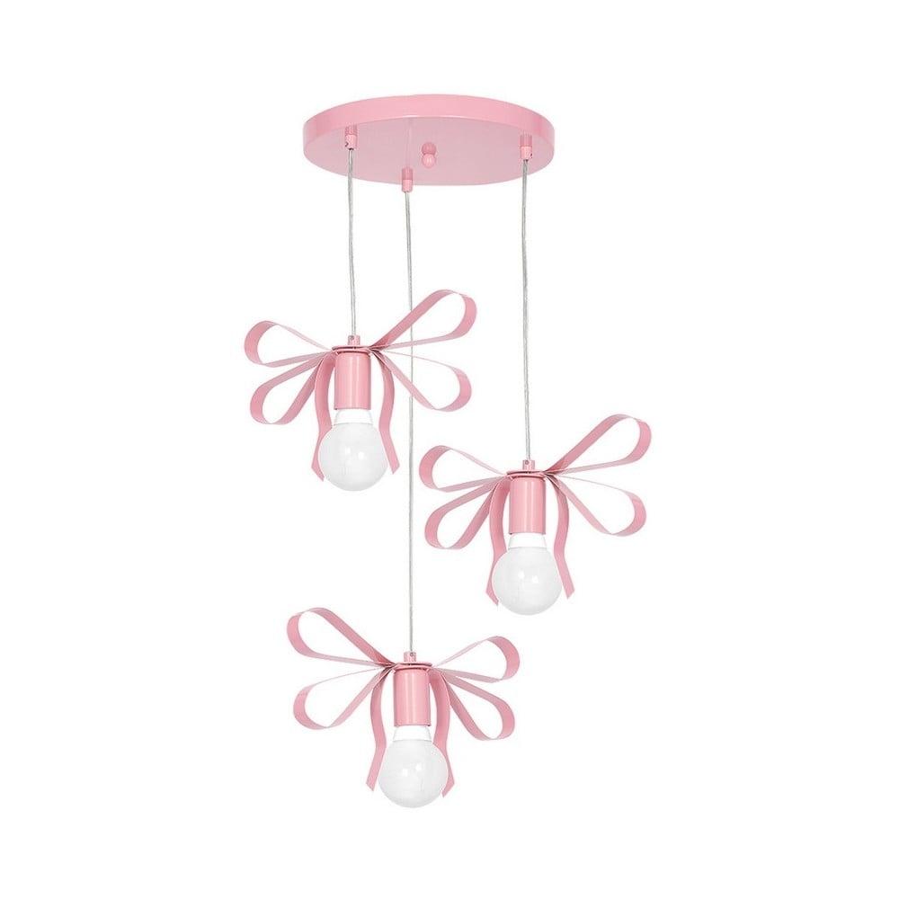 Różowa lampa wisząca Emma Tres