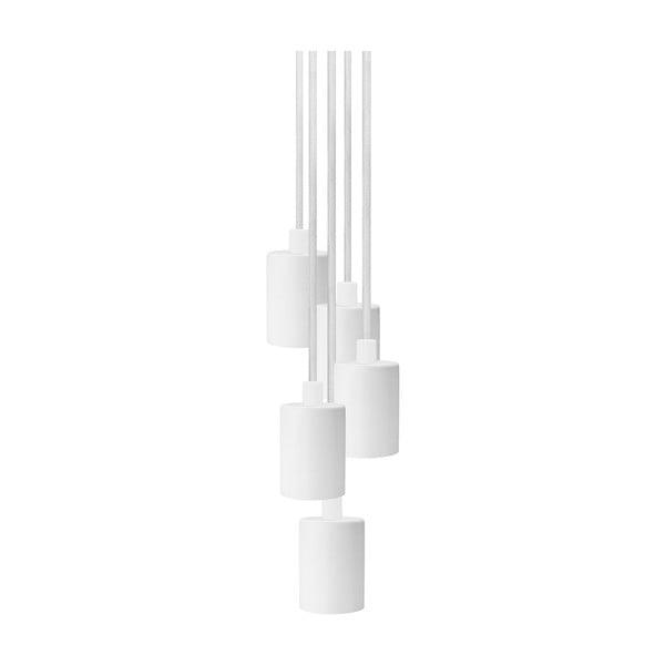 Biała lampa wisząca z 5 kablami Bulb Attack Cero Group