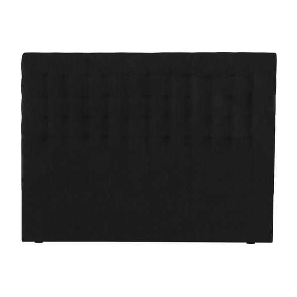 Czarny zagłówek łóżka Windsor & Co Sofas Nova, 160x120 cm