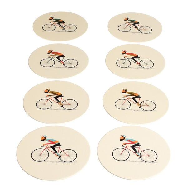 Zestaw 8 podkładek Rex London Le Bicycle