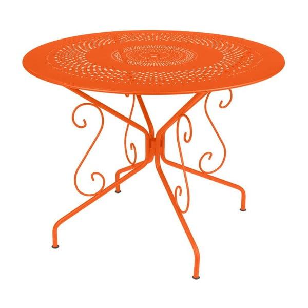 Pomarańczowy stół metalowy Fermob Montmartre, Ø 96 cm