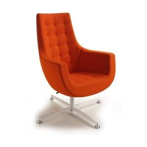 Pomarańczowe krzesło Bureau Zago