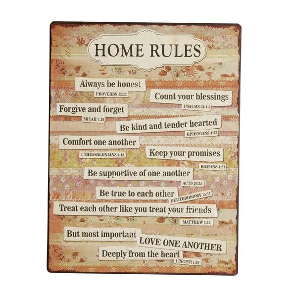 Tablica Home rules, 35x27 cm