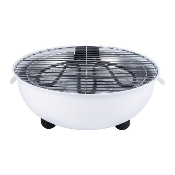 Biały grill elektryczny Tristar, ⌀ 30 cm