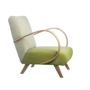 Fotel retro Kamila Velínská, Green/Cappucino