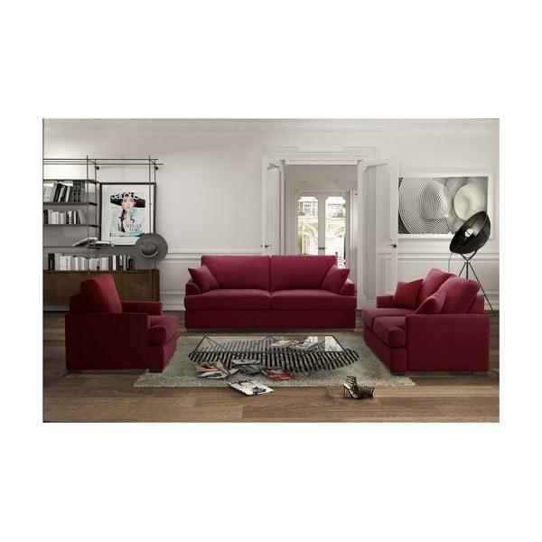Trzyczęściowy komplet wypoczynkowy Jalouse Maison Irina, czerwony