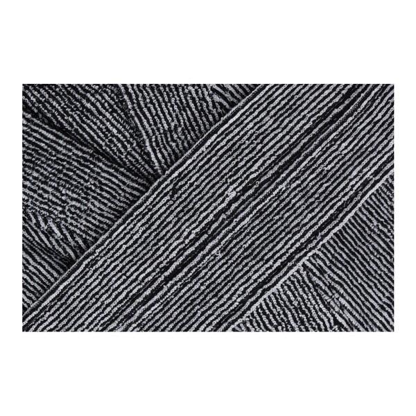 Czarno-biały szlafrok Ello, rozmiar S