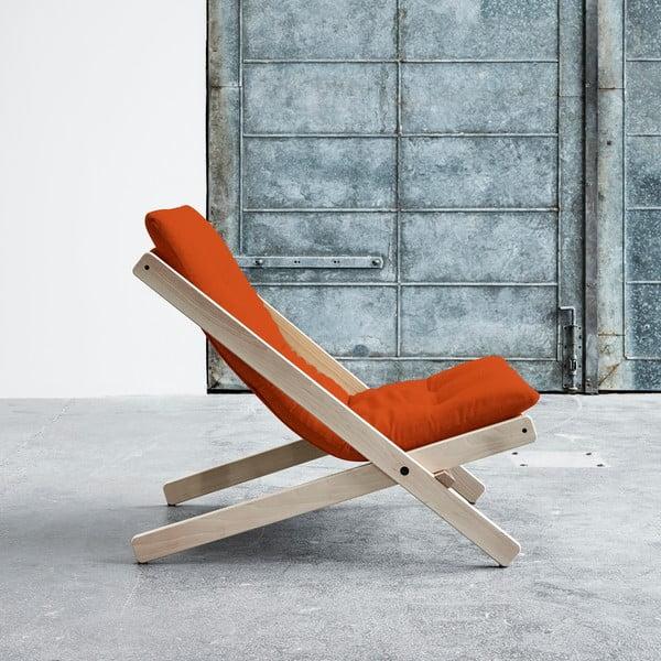 Fotel składany Karup Boogie Raw/Orange
