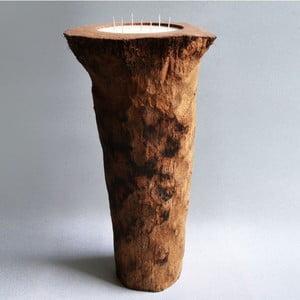 Palmowa świeczka Legno Long o zapachu wanilii i paczuli, 160 godz.