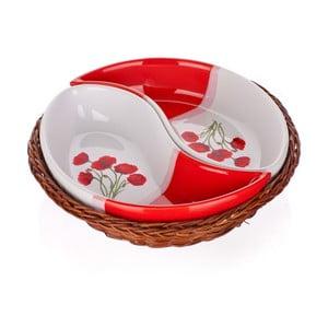 Miska w koszyku Banquet Red Poppy, 20,5 cm