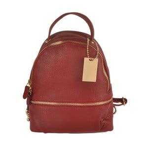 Czerwony plecak skórzany Matilde Costa Gent