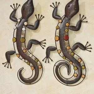 Zestaw 2 dekoracji ściennych Wall Lizards