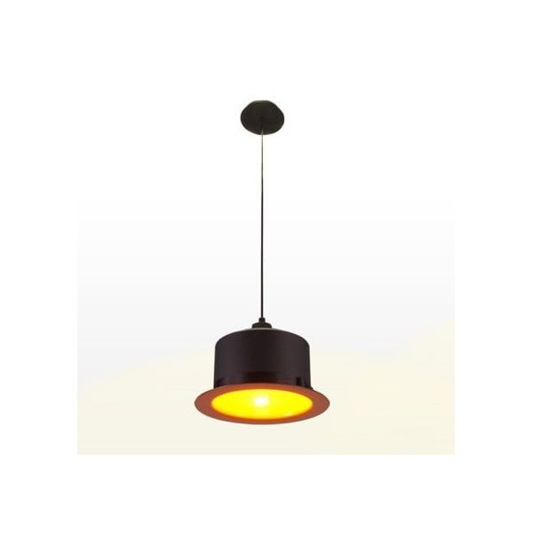 Lampa sufitowa Hat Black/Orange