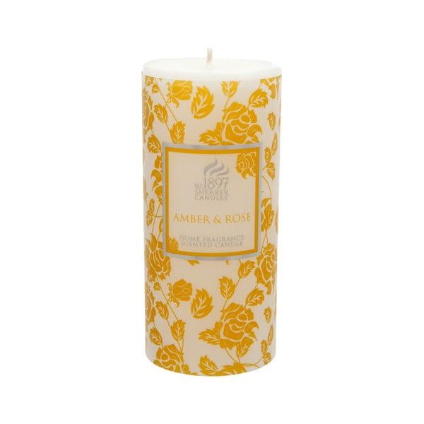 Świeczka zapachowa Pillar 100 godzin palenia, aromat bursztynu i róży
