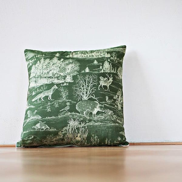 Poduszka z wypełnieniem Dark Green Forest, 50x50 cm