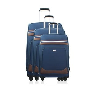 Komplet 3 walizek Valises Avec Poly Blue