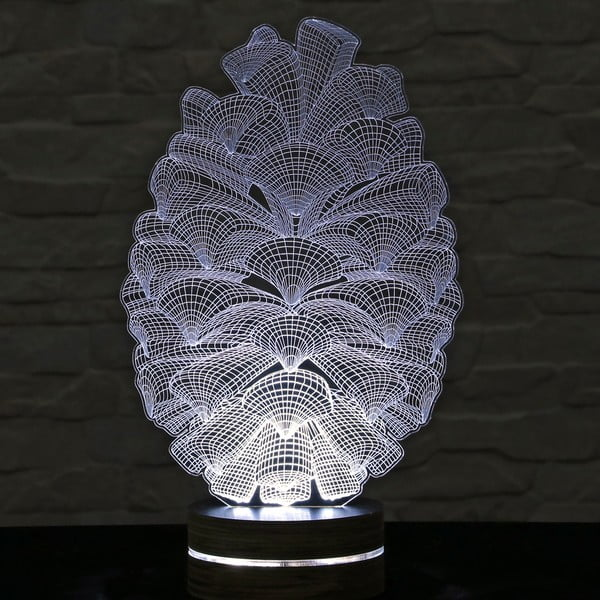 Lampa 3D stołowa Cone