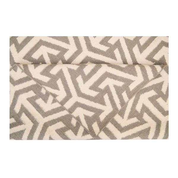 Dywan wełniany Bakero Kilim No. 305 Grey, 60x90 cm