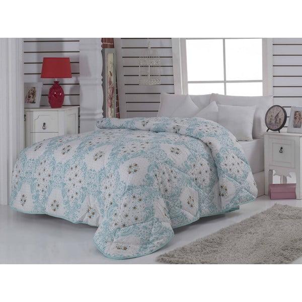 Narzuta pikowana na łóżko dwuosobowe Newfashion Mint, 195x215 cm