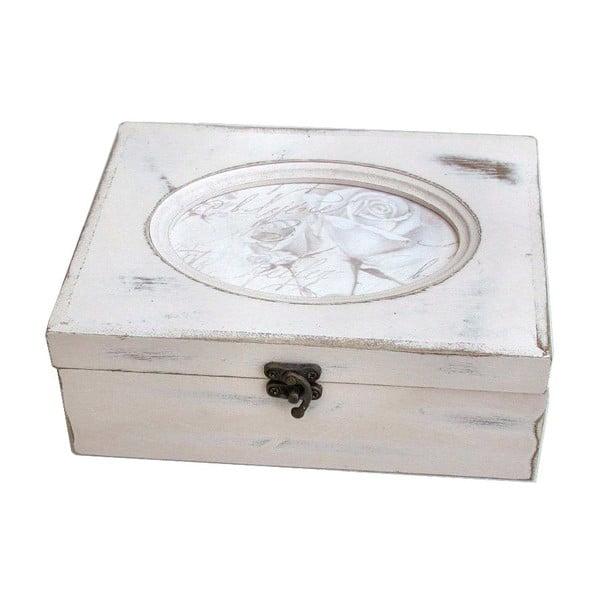 Drewniane pudełko Vintage Flowers, 20x7,5x15 cm
