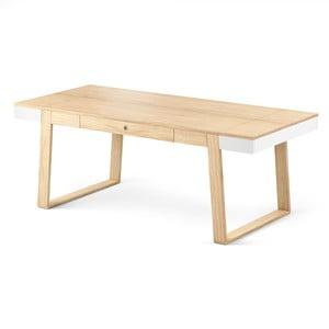 Stół dębowy z białymi szczegółami Absynth Magh, 198x100 cm